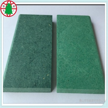 Buena calidad china impermeable color verde crudo MDF