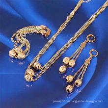 Xuping más nuevo multicolor conjunto de joyería cadenas de bolas (61029)
