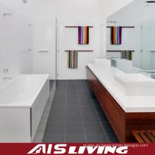 Vanidad de los gabinetes de baño de la melamina con el lavabo de la cerámica (AIS-B008)