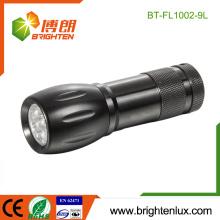 Fabrik-Massen-Verkauf 3 * AAA batteriebetriebene Aluminium-Material Emergency Used Portable Günstige 9 LED-Taschenlampe