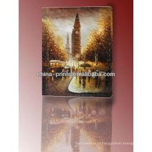 Высокое качество Известный Лондон Биг Бен Холст масляной живописи