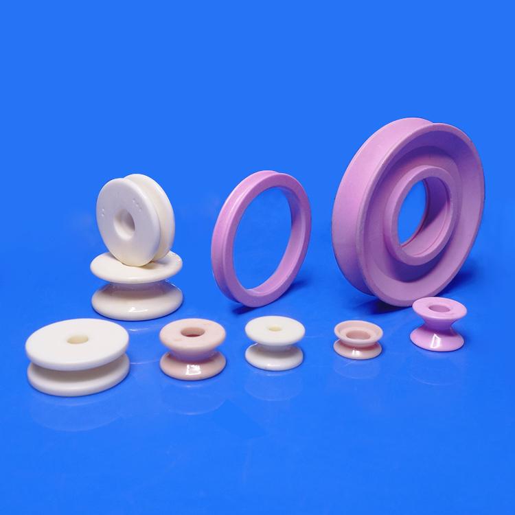 Textile ceramic roller guides