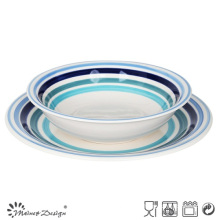 Special Plate Match Soup Bowl 12PCS Hand Painting Dinner Set