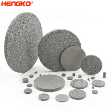 Microns porous stainless steel sintered metal powder filter discs