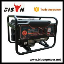 BISON CHINA TaiZhou OHV 2kv refrigerado por aire de gasolina pequeño generador AC Alternador