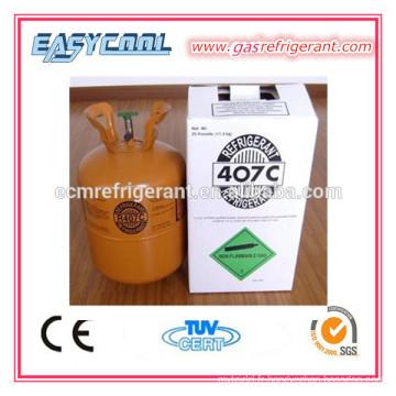 réfrigérateur et congélateur réfrigérant 407c pour le climatiseur, nouveau gaz du réfrigérant r407c à vendre