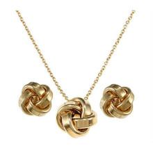 La joyería determinada del acero inoxidable incluye el chapado en oro del pendiente del collar para las mujeres