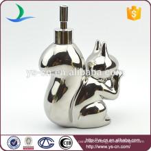 Ceramic silvering squirrel shape Lotion Dispenser