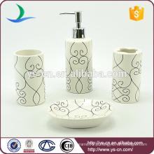 Cilindro Ceramic Toothbrush Holder Banheiro Set Dispensador de sabão