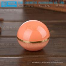 YJ-O15 15g exportados do frasco de delicada e adorável bola de acrílico cosméticos fábrica chinesa