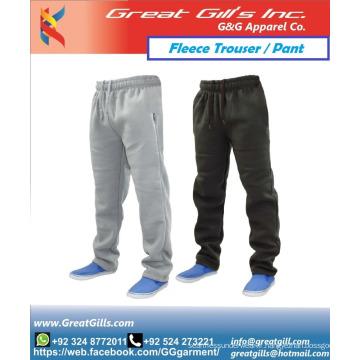 Pantalon et pantalon en polaire en tissu chaud d'hiver avec des joggeurs de style personnalisé