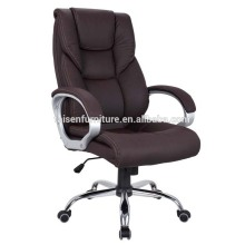 Swivel Mid Black Ribbed Leather Arm Office Chair