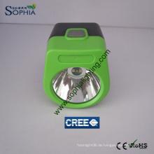 3W Cordless Mining Cap Lampe Arbeit mit Solar Panel Ladegerät