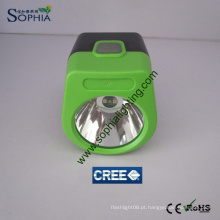 Novo IP68 2.8ah CREE LED Mining Hard Hat lâmpada