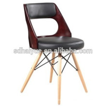 2017 High quality solid wooden base leisure chair dinning chair