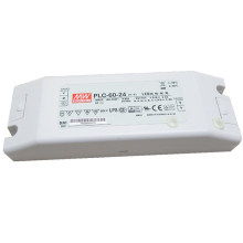 Original MEAN WELL 60w 48vdc led driver power supply IP20 PLC-60-48
