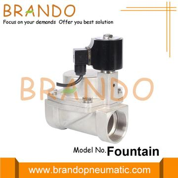 Air Blast Water Fountain Stainless Steel Solenoid Valve