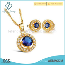 Colar de pingente de diamante de ouro 18k, jóia de cobre da corrente da colar