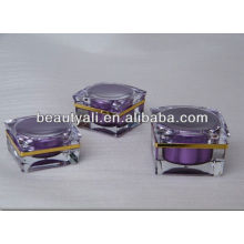 15ml 30ml 50ml Green Cosmetic Acrylic Decorative Jars