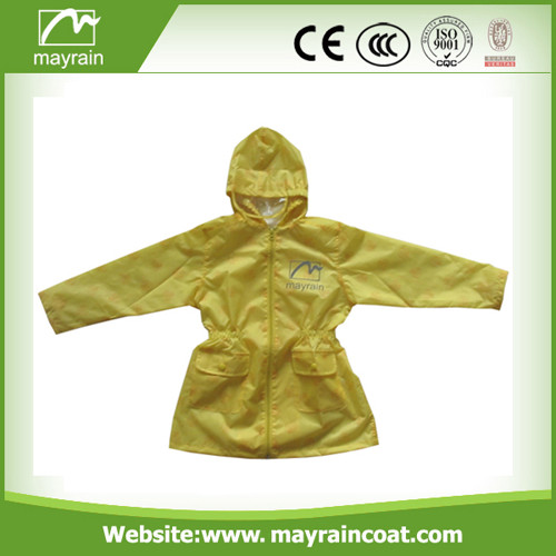 Kids 190 T Polyester / Waterproof Coating Rain Jacket