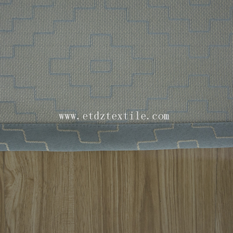 100% Polyester Jacquard Pattern Curtain Fabric GF026