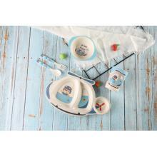 juego de vajilla de alimentación para bebés en forma de helicóptero
