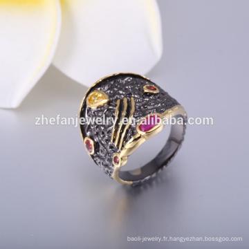 Bijoux anciens bagues bagues pour femmes avec bagues plaqué or noir bijoux