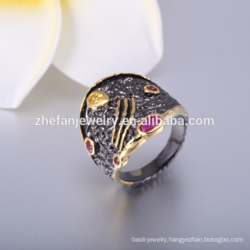 Antique jewellery rings women's finger rings with black gold plating rings jewelry