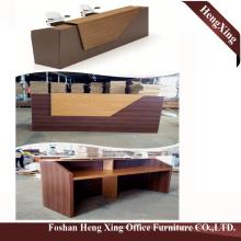(HX-5N428) Cherry Reception Bank Counter Desk Wooden MDF Office Furniture