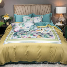 Luxury Cheap Price Bedding Cotton Fabric Comfortable for Queen Bed Bedsheet Digital Printing
