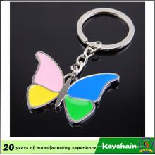 Llavero personalizado personalizado promocional de la mariposa de la aduana