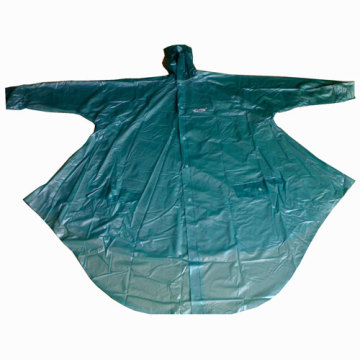 Poncho transpirable impermeable verde
