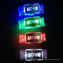 Valentine Day Custom Love Letter Led Nylon Flash Wristband