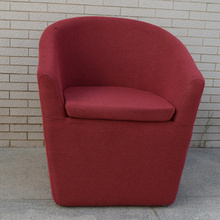 Upholstered Armchair Red Fabric Single Lounge Sofa