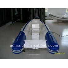 RIB420 ce de fibra de vidro rígida barco motor 30hp