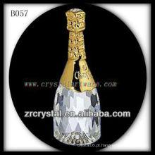 K9 3D Garrafa De Vinho De Cristal Banhado A Ouro