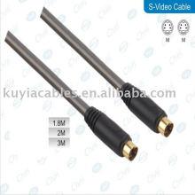 Pied 4 broches S-Vidéo câble Câble mâle à mâle plaqué or pour DVD HDTV