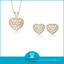 Gold Plated Jewelry Set Heart Shaped (J-0156)