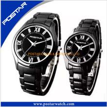Impermeável relógio de discagem redondo de alta qualidade para o casal