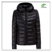 custom hooded ladies ultra light jacket