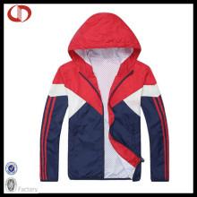 Mens poliéster Windproof Sport Jacket