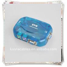 2 порта коммутатора KVM для PS / 2 ПК ЖК-монитор VGA мыши