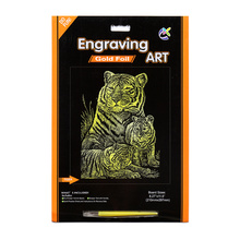 Artificial artesanías de oro Tigger A4 tarjetas rasca y gana