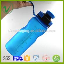 Hitzebeständige BPA Freie leere runde Kunststoff-Freischwinger-Sport-Wasserflasche