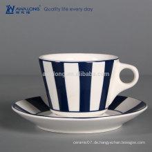 Billige Porzellan-Kaffeetasse nach Maß Bone Porzellan-Tee Tasse Keramik-Tee Cup und Sausers
