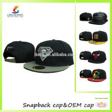 Hip hop embroidery logo flat hat baseball cap snap caps
