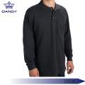 Camisa pólo de manga comprida de golfe com estampa personalizada