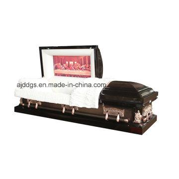 Brun et cuivre brossé cercueil