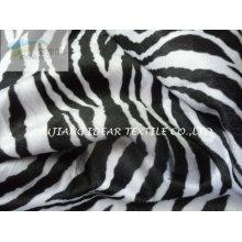 Patrón de cebra impreso a tejido de punto para el sofá