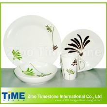 Porcelain Palm 16-Piece Dinnerware Set Service for 4 (616049)